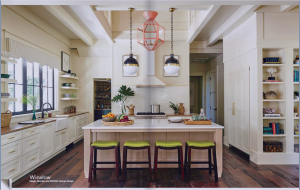 kitchen-cabinets-in- Stone Mountain-ga-cream-kitchen-blush-island-lime-seat cushions